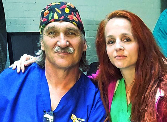 Dr. Jeff Young and his current wife, Dr. Petra Young Mickova.