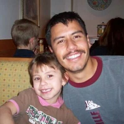 Hector Martinez with his daughter